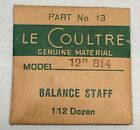 """Le Coultre Watch Part: 12"""" cal. 814 balance staff / 489 814 815 825 / Memovox image"""