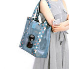 Women Shopping Mesh Shoulder Bags Handbag Beach Bag Large Clear Tote Bag US image