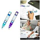 Floating Liquid Motion Timer Pen Calming Relaxing Fidget Writing Pens 2 Pack New