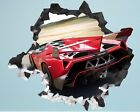 Shangri-la Exotic Home Decor Edmonton Lamborghini Veneno Roadster Smashed Wall Decal 3D Sticker Decor Vinyl Car AH66 Cherries Home Decor