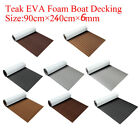 95''x35.4''x0.24''Flooring Teak EVA Foam Boat Decking Sheet Marine Faux Brown image