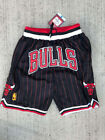 NWT Chicago Bulls Just Don Pinstripe Black Vintage BASKETBALL SHORTS on eBay
