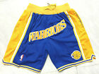 Warriors Retro NBA Basketball NWT Stitched Shorts Men's Pants on eBay