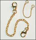 14Kt Yellow Gold Extender/Safety Chain/W Lobster Clasps or Spring Clasps 1'- 6'