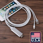 US LOCAL HDMI /HDTV Cable Adapter AV For i Phone 6 6S 7 8 Plus iPad Mini 2 3 e0
