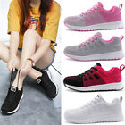 Women Running Sport Gym Sneakers Breathable Mesh Jogging Solid Color Shoes
