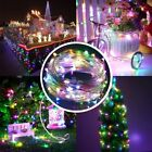 22M/200LED Solar Powered LED String Fairy Light Xmas Party Outdoor Waterproof