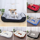LD_ PUPPY DOG BED SOFT WASHABLE CUSHION WINTER SLEEP WARM PET BASKET KENNEL ST