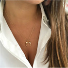 Women Moon Layered Necklace Crescent Moon Wicca Horn Pendant Jewelry Gifts Usa