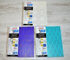 NEW Mead FIVE STAR DESIGNER 5 Subject Notebook ~ College Ruled ~ 200 Sheets