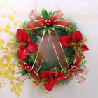 D42 Christmas Xmas Diameter 40CM Red Pine Needles Decorations Christmas Wreath B