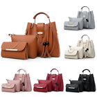 3Pcs Set Women Leather Handbag Purse Messenger Shoulder Bag Tote Wallet Clutch