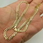 """Solid 14k Yellow Gold Cuban Chain Necklace 16"""" 18"""" 20""""24"""" 26"""" 30"""" image"""