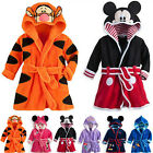 Kyпить Baby Kid Boys Girls Mickey Minnie Hooded Bath Robe Bathrobe Nightwear Sleepwears на еВаy.соm