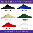 Blank Canopy Tent, Portable Instant Outdoor Gazebo Shelter 10'X10' - ONLY TOPPER