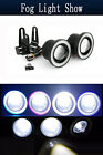 "3.0"" Car Fog Light Lamp COB LED Projector Halo Angel Eye Ring DRL White/Blue/Red $17.49 USD on eBay"