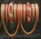 Bollywood Indian Pakistani Red Bangles Set With Free Gift
