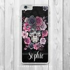 PERSONALISED DAY OF THE DEAD FLOWER SKULL Phone Case Cover for iPhone Samsung