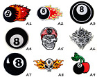 8 Eight Ball Fire Skull 8 Ball Logo Biker Sew/Iron On Patch Embroidered Applique $3.93 CAD on eBay