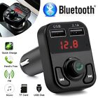 Wireless Bluetooth FM Transmitter Radio Adapters MP3 Player USB Charger TF Card