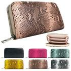 New Women's Synthetic Leather Snake Animal Print Pattern Purse Wallet