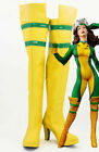 X-Men Ms. Rogue Anna Marie Halloween Costume Cosplay Knee-high Boots Custom Made