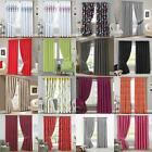 Ready to Hang Easy Care Designer Plain Curtains Pair Thermal Bedroom Linen