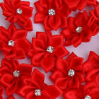 50 Pcs Cloth Flowers Diamond Craft Material Hat Decor Clothes Ornament for Boots