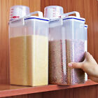 1/4PCS 2L Large Capacity Airtight Dry Food Container Durable Cereal Storage Box