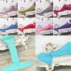 Adult & Kids Mermaid Tail Knitted Crochet Blanket Sofa Bed Beach Cocoon Gift US image