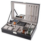 Kyпить Jewelry Box 6/8 Slot Watch Organizer Storage Case Lock and Mirror for Men Women на еВаy.соm