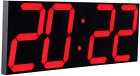 CHKOSDA Remote Control Jumbo Digital Led Wall Clock, Multifunction, Large Calend
