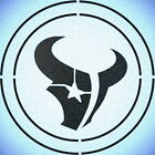DOUBLE CIRLCE HOUSTON TEXANS STENCIL SPORT FOOTBALL STENCILS $9.18 USD on eBay