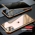 360° Privacy Anti-Spy Magnetic Metal+Tempered Glass Case For iPhone X XS MAX XR $11.99 USD on eBay