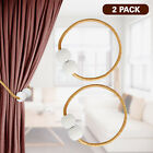 2Pcs Curtain Tie Backs Magnetic Ball Buckle Holder Tieback Clips Window Home