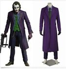 Newest Mens Cosplay Knight Joker Outfits Movie Costume Halloween Outfit Full Set