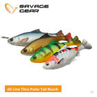 Savage Gear 4D Line Thru Pulse Tail Roach Lures - Pike Zander Catfish Fishing