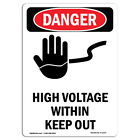 OSHA Danger Sign -  High Voltage Within Keep Out | Heavy Duty Sign or Label