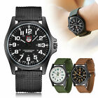 Men's Nylon Strap Band Watch Men Boy Military Army Date Quartz Wrist Watch Gift