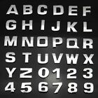 A-Z  0-9  Alphabet Letter Auto Car Sticker Self-Adhesive Badge Emblem 3D Chrome $0.99 USD on eBay