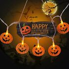 20-50 Led Halloween Fairy Lights Pumpkin Bat Ghost Home Bedroom Party Decoration