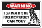 MAKE IT TO THE FENCE Warning Decal dog attack security fierce patrol dogs
