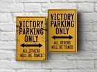 Victory parking sign for garage, man cave, home $16.09 USD on eBay