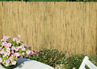 Natural 4m Peeled Reed Fence Screening Roll Garden Screen Fencing Panel Wooden