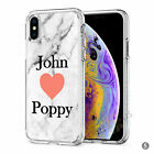 Initials Phone Case Personalised Marble Hard Cover For Apple iphone 8 X 11 046-5