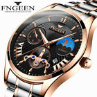 Luxury Fashion Men's Quartz Stainless Steel Analog Sports Luminous Wrist Watches