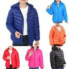 Kids Boys Girls Hooded Padded Jacket Coat Winter Warm Outerwear Overcoat Parka