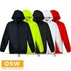 Unisex Mens Womens Kids Youth Spray Jacket with bag - Black White Navy Red Lime