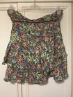 Oasis Bright Ditsy Floral Frill Tiered Summer Garden Mini Skirt Size 16