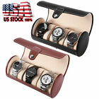3 Slot Watch Travel Case PU Leather Roll Box Collector Organizer Jewelry Storage image